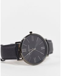 ASOS Classic Watch With Saffiano Strap - Black