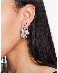ASOS Plated Hoop Earrings - Metallic
