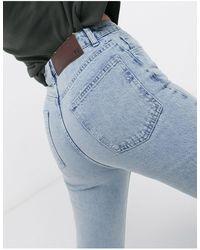 Reclaimed (vintage) Inspired '86 Super Wide Flare Jean - Blue