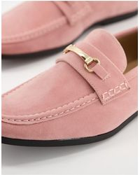 Truffle Collection - Розовые Лоферы С Металлической Отделкой -розовый Цвет - Lyst