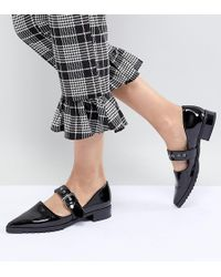 Monki - Patent Pointed Flat Shoe - Lyst