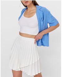 Stradivarius Pleated Tennis Mini Skirt - White