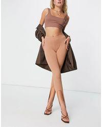 Fashionkilla Stirrup leggings - Brown