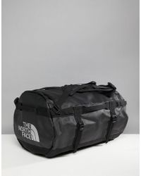 The North Face - Base Camp Duffel Bag Small 50 Litres In Black - Lyst