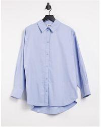 Weekday Edyn Oversized Shirt - Blue