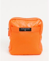 Calvin Klein Маленькая Сумка Оранжевого Цвета С Ремешком Через Плечо -оранжевый Цвет