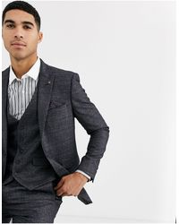 Burton Skinny Fit Suit Jacket - Grey
