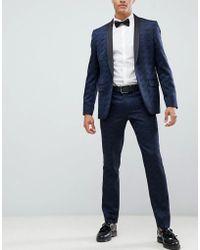 Farah - Keeling Floral Slim Fit Suit Pants - Lyst