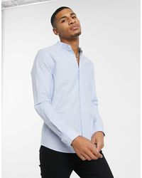 Burton Organic Cotton Long Sleeve Skinny Oxford Shirt - Blue