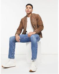 SELECTED - Светло-коричневая Замшевая Куртка -коричневый Цвет - Lyst