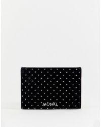 Monki - Black Velvet Card Holder With Glitter Dots - Lyst