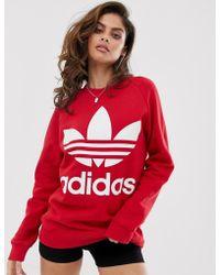 adidas Originals Oversized Sweatshirt In Red