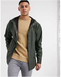 Rains Зеленая Легкая Куртка С Капюшоном -зеленый Цвет