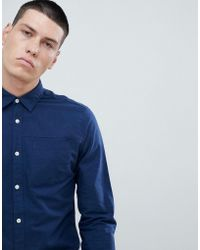 SELECTED - Slim Fit Linen Shirt - Lyst