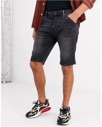 Tom Tailor Pantalones vaqueros cortos en negro lavado Josh