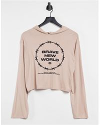 Adolescent Clothing Lounge Brave New World Lounge Hoodie - Natural
