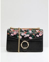 Liquorish - Embroidered Across Body Bag With Hardware - Lyst