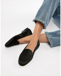 ASOS Leo Leather Ballet Flats - Black
