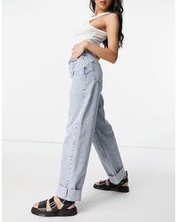 TOPSHOP - Выбеленные Oversized-джинсы В Винтажном Стиле Из Переработанного Смесового Хлопка -голубой - Lyst