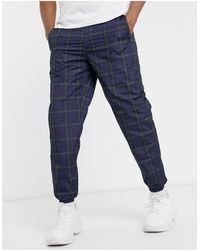 Pull&Bear Co-ord Check Trouser - Blue