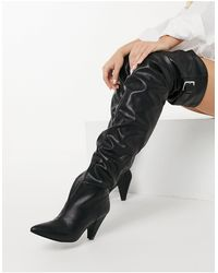 ASOS Kayla Thigh High Slouch Boots - Black