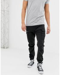 Jack & Jones Intelligence - Slim-fit Cargobroek - Zwart