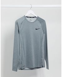 Nike - Белый Термолонгслив Nike Pro Training - Lyst