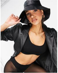Glamorous Exclusive Wide Brimmed Bucket Hat - Black