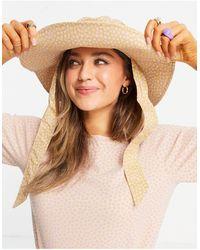 Pieces Fisherman Bucket Hat - Brown