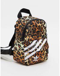 """adidas Originals Маленький Атласный Рюкзак """"leopard Luxe"""" -коричневый Цвет"""