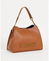 Love Moschino Светло-коричневая Сумка На Плечо С Логотипом -коричневый Цвет