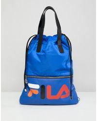 Fila - Crow Blue Tote Shopper With Detachable Straps - Lyst