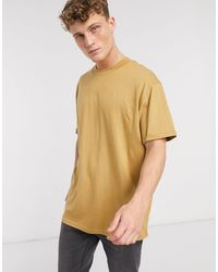 Brave Soul Roll Sleeve T-shirt - Brown