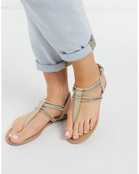 Call It Spring Treanna T-bar Embellished Sandals - Multicolour