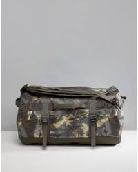 The North Face - Base Camp Duffel Bag Small 50 Litres In Tropical Camo/green - Lyst