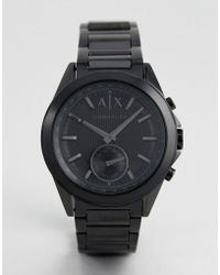Armani Exchange - Connected Axt1007 Bracelet Hybrid Smart Watch In Black - Lyst