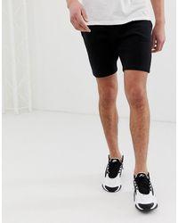 ASOS Jersey Skinny Shorts - Black