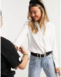 New Look - Белая Рубашка На Пуговицах -кремовый - Lyst