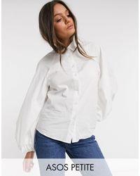 ASOS - Asos Design Petite Long Volume Sleeve Shirt - Lyst