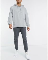 ASOS - Joggers skinny antracite mélange - Lyst