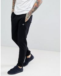 Fred Perry - Panel Sweat Joggers In Black Suit 1 - Lyst