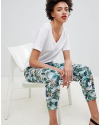 Esprit Tropical Printed Sweatpants - Multicolor