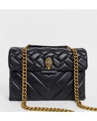 Kurt Geiger - Kurt Geiger Large Kensington Black Leather Shoulder Bag With Chain - Lyst