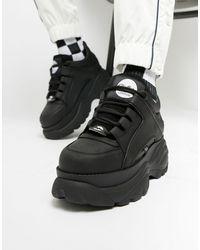 Buffalo Sneakers chunky classiche nere - Nero