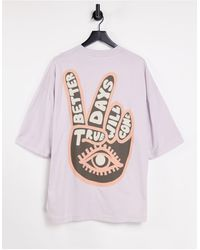 ASOS Oversized T-shirt With Print - Purple