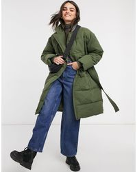 Whistles Trench Puffer Coat - Green