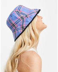 Pimkie Cappello da pescatore double-face a quadri multicolore