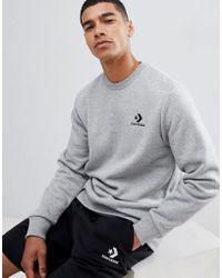 Converse Graues Sweatshirt mit Logo, 10008816-A03