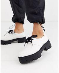 ASOS Белые Туфли На Плоской Массивной Подошве - Белый