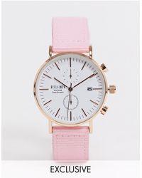 Reclaimed (vintage) Часы С Хронографом И Парусиновым Ремешком Inspired-розовый - Многоцветный
